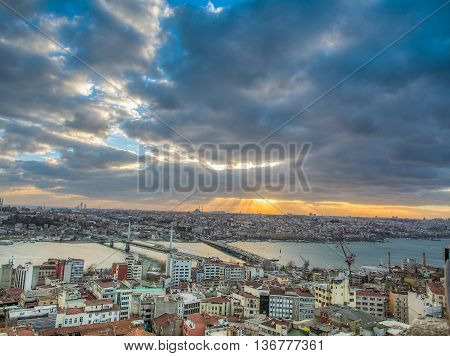 Sultanahmet Skyline At Sunset.