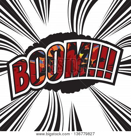 Boom Comic Sound Effect Vector Illustration. EPS 10
