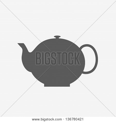 Black Teapot Silhouette - Isolated Vector Illustration. Tea Pot Icon, Sign