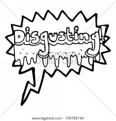 freehand drawn speech bubble cartoon disgusting symbol
