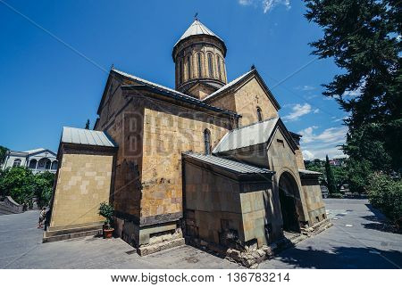 Tbilisi Georgia - July 18 2015. Sioni Cathedral of Dormition commonly known as Tbilisi Sioni