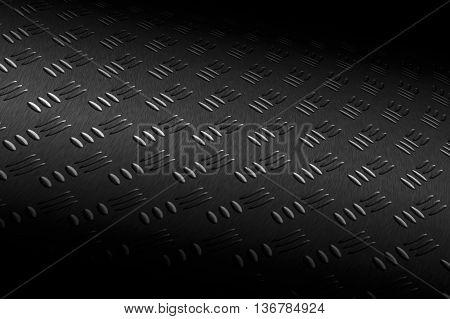 Diamond Plate On Black Shadow