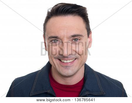 Face Of Smiling Handsome Young Man Isolated