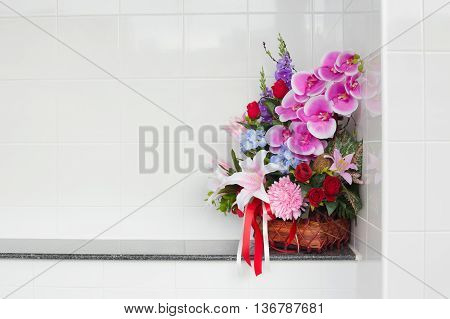 Artificial Flower In The Basket