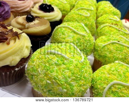 Abstract Creative Tennis Cupcakes Scene London England