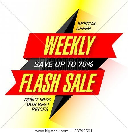 Weekly Flash Sale banner template
