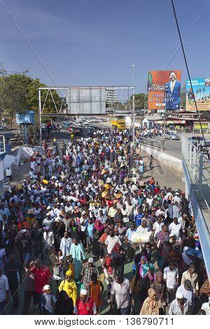 Likoni Ferry In Mombasa, Kenya, Editorial