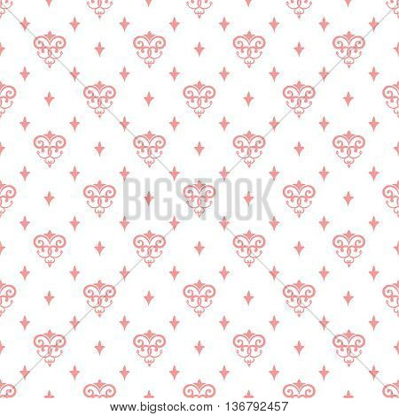 Vector seamless pink pattern. Luxury elegant texture. Pattern can be used as a background wallpaper wrapper page fill element of ornate decoration