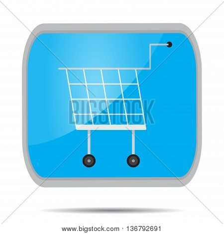 Cart shopping button icon. Shopping cart icon and shopping basket for supermarket. Vector illustration