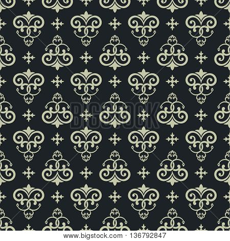 Vector seamless pattern. Luxury elegant texture. Pattern can be used as a background wallpaper wrapper page fill element of ornate decoration