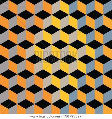 Yellow Abstract Pattern - Triangle and Square pattern in yellow and orange colors. eps10 vector illustration