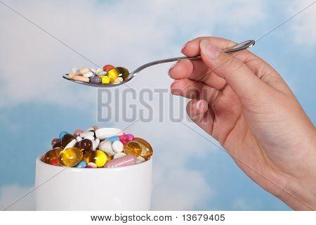 Having Pills For Breakfast
