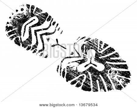 Grungy Bootprint