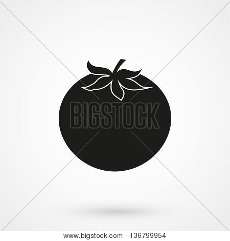 Tomato Icon On White Background In Flat Style. Simple Vector