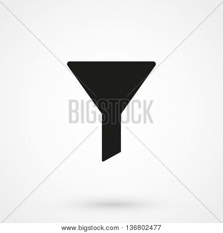 Filter Icon On White Background In Flat Style. Simple Vector