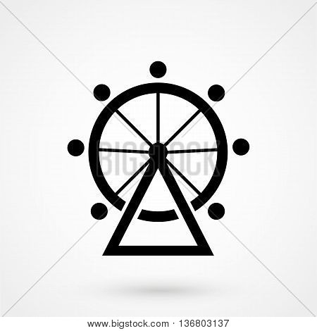 Carousel Icon On White Background In Flat Style. Simple Vector