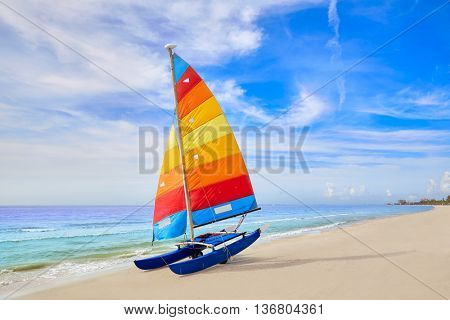 Florida Fort Myers beach catamaran sailboat in USA