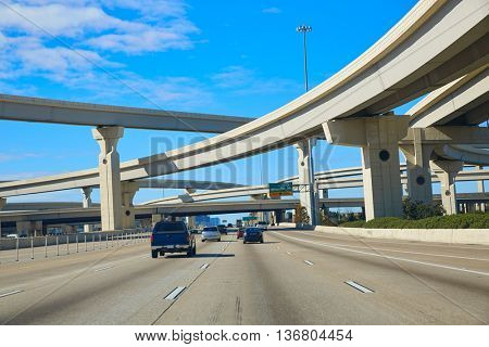 Houston texas crossroads bridges in USA