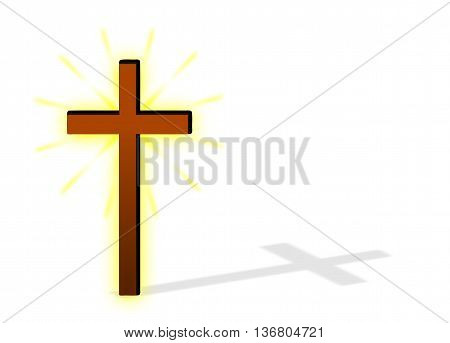 christian cross , brown cross , shining brown cross