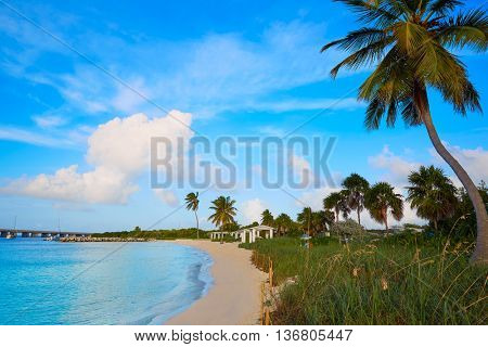 Florida Keys beach Bahia Honda State Park in USA
