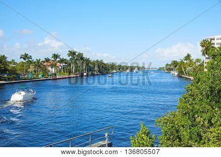 Del Ray Delray beach Gulf Stream in Florida USA