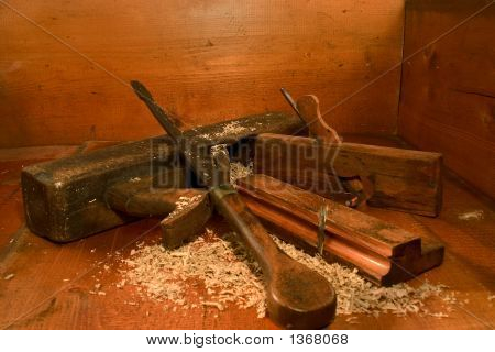 Antique Wood Tools
