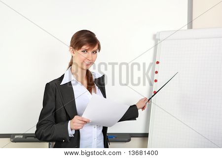 young business woman making presentation