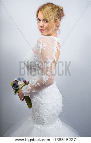 Bride In A Wedding Dress Pre Wedding Portrait