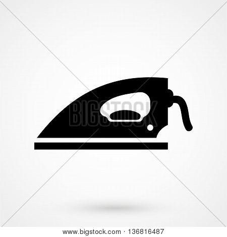 Iron Icon On White Background In Flat Style. Simple Vector