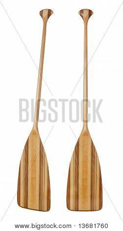 Bent Shaft Wood  Canoe Paddle