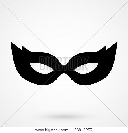Mask Icon On White Background In Flat Style. Simple Vector