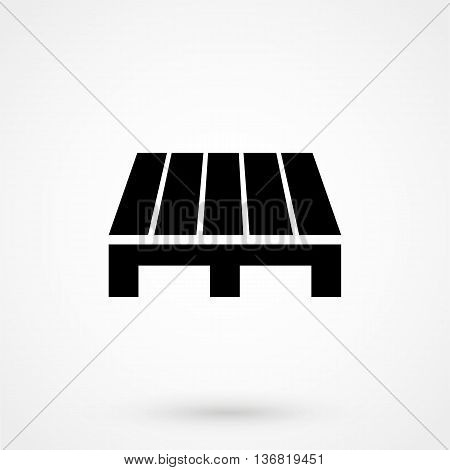 Pallet Icon On White Background In Flat Style. Simple Vector