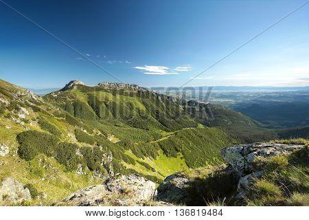 Mountain massif in the western Tatras, Poland.
