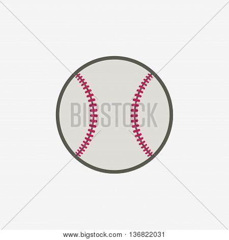 Baseball ball vector icon sport equipment on white background