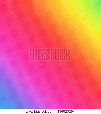 Rainbow Abstract Mosaic Low Polygon Backrgound