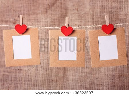 Heart Clothespin Rope