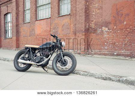 Vintage Motorcycle In Parking