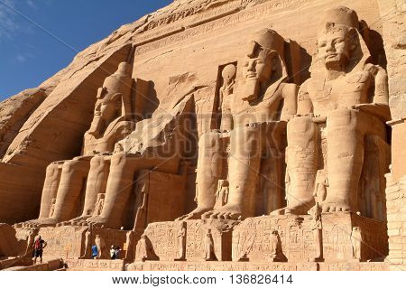 The Ramses temples of Abu Simbel in Egypt
