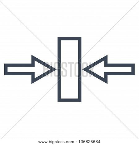 Pressure Horizontal vector icon. Style is stroke icon symbol, smooth blue color, white background.