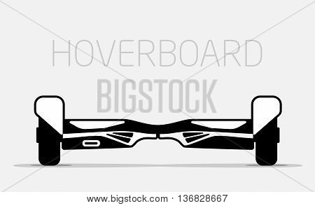 Red Electric two Wheels Balance Board. Editable Clip Art.