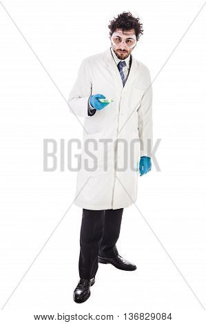 Biologist With A Petri Dish