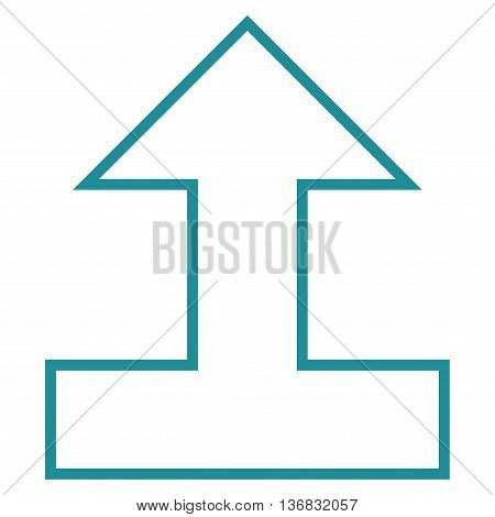 Connect Arrow Up vector icon. Style is outline icon symbol, soft blue color, white background.