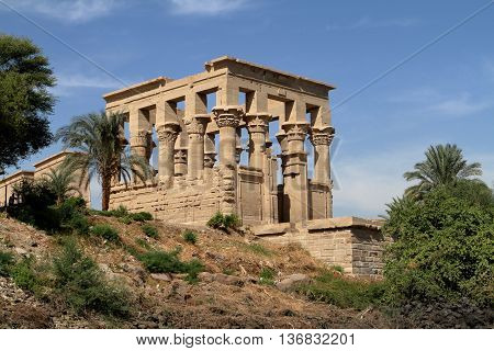 The Trajan Temple of Philae in Egypt