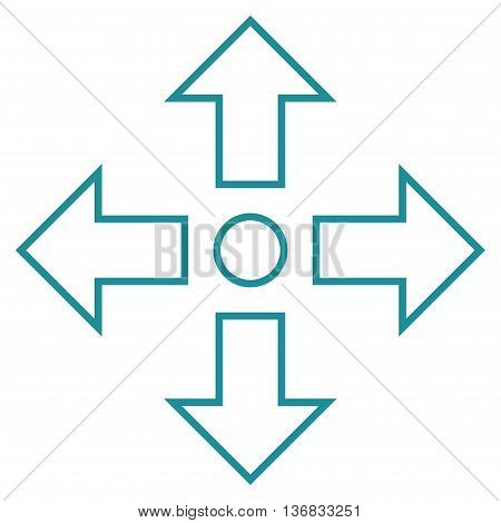 Maximize Arrows vector icon. Style is stroke icon symbol, soft blue color, white background.