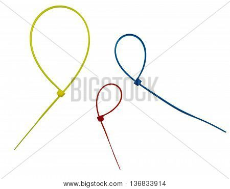 Three Color Cable Ties