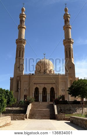 The islamic Mosque of Aswan in Egypt