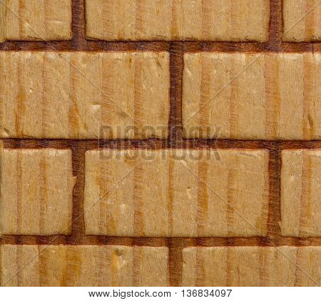 Wooden brick texture macro shot. For design use