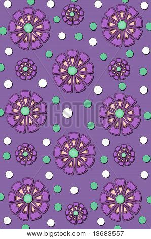 Background Muted Purple Flowers