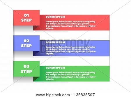 Simple template for a numbered step by step information. Infographics. Template for instructions. Information for your reference. Template for your presentations.