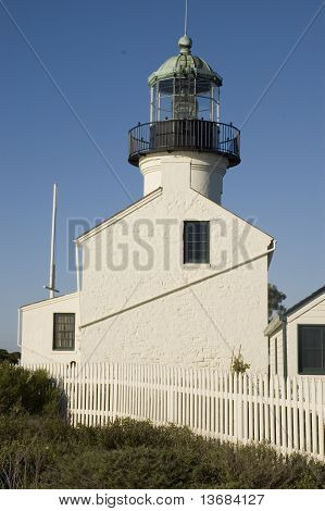 Cabrillo Lighthouse on a clear day.